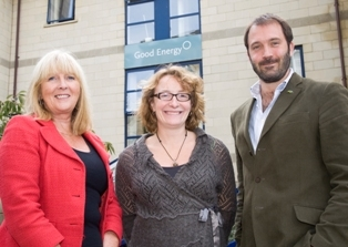 Sue Baker (Beacon SW) with Good Energy CEO Juliet Davenport and MD Barney Rhys Jones