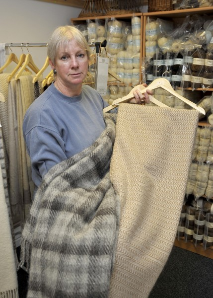 Sue Blacker showcasing some of the products available from the new site