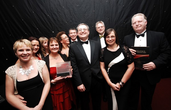 Cornwall care team celebrate their triple award win
