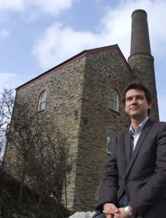 Newly appointed Project Manager, Andy Cook, outside UKNetWeb's offices in St.Agnes.