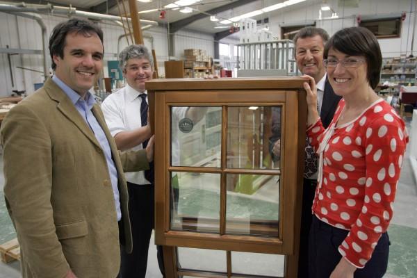 (L-R) Matthew Taylor, Clearwood UK MD Treve Temby, Roy Wakeman, Julia Goldsworthy