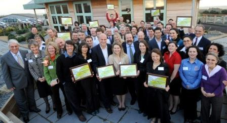 Cornwall Sustainability group of all winners outside