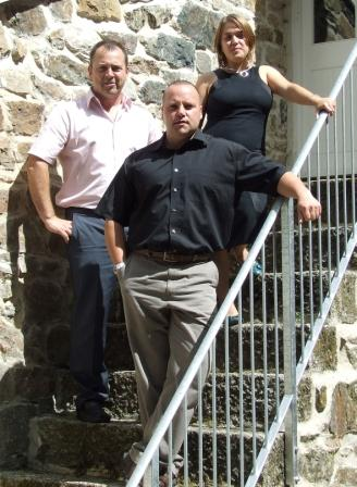 the new management team at RLT Architects (l-r) Danny Cooper, Steve McTeare and Helen Brooks