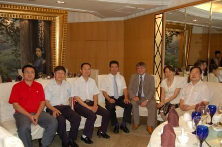 Wardell Armstrong director Chris Broadbent (3rd from right) with Chinese guests for the formal opening