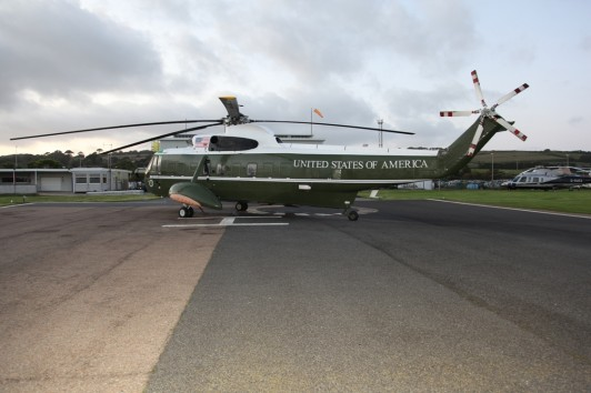 Marine One pictured at Penzance Heliport....or is it?