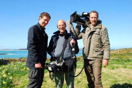 Heiko De Groot, sound man Florian Illing and cameraman Patrick Brandt