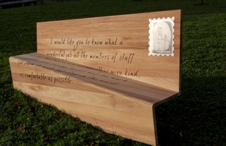 Boex's letter bench