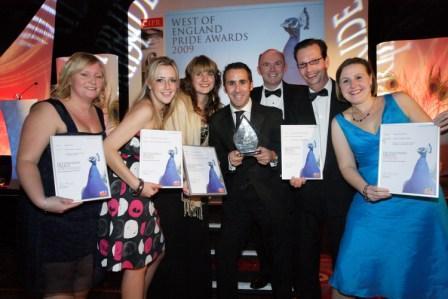 The juibilant DCA team at the awards