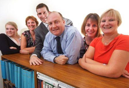 (L-R) Emma Rodwell, Sarah Young, David Harland, Simon Foxhall, Donna Hull and Sue Toseland