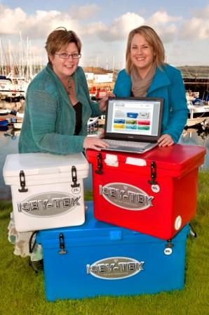 Julia Nute and Hudson Armstrong's Jo Downie show off the new website