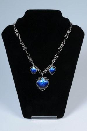 The Newlyn silver and enamelled necklace that fetched a world-record £2.6k when auctioned by Barbara Kirk at Penzance Auction House