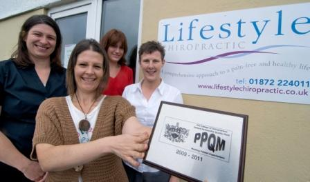 The Lifestyle Chiropractic team (left to right) Mairi Dowlen (Doctor of Chiropractic), Lynn Richards (Chiropractic assistant), Lauren Browning (Chiropractic assistant) and Amanda Hensman (owner and Doctor of Chiropractic)