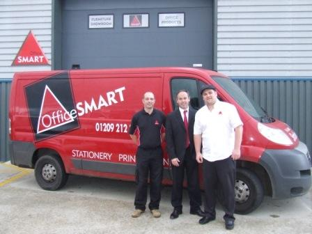 Greg Moffat, Eamonn Barry (sales director) and Graeme Webster