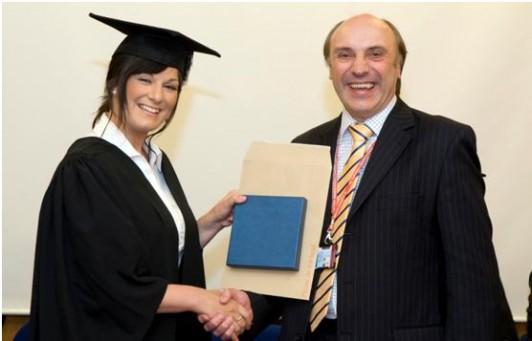 Apprentice of the Year Deborah Cortes with Ron Champion