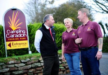 Lene and Stephen Cox with Cornish Mutual inspector Dave Bersey