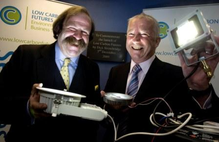Dick Strawbridge (left) and  MD Ken Shaw at the Low Carbon Futures launch