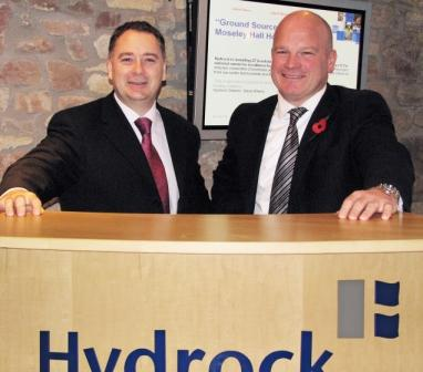 Graham Fincham (l) and Hydock MD Dr Brian McConnell