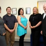 TRACS L-R: Sarah Trethowan, Mike May, Debbie Finlay, Natalie Grogan and Jonathan Trethowan