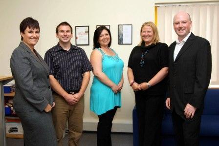 TRACS L-R: Sarah Trethowan, Mike May, Debbie Finlay, Natalie Grogan and Jonathan Trethowan. © copyright Phil Monckton/CIOSP