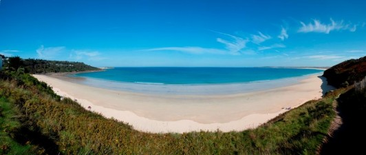 View of Carbis Bay Hotel's Blue Flag beach