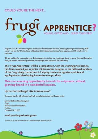 In Search Of The Frugi Apprentice Business Cornwall
