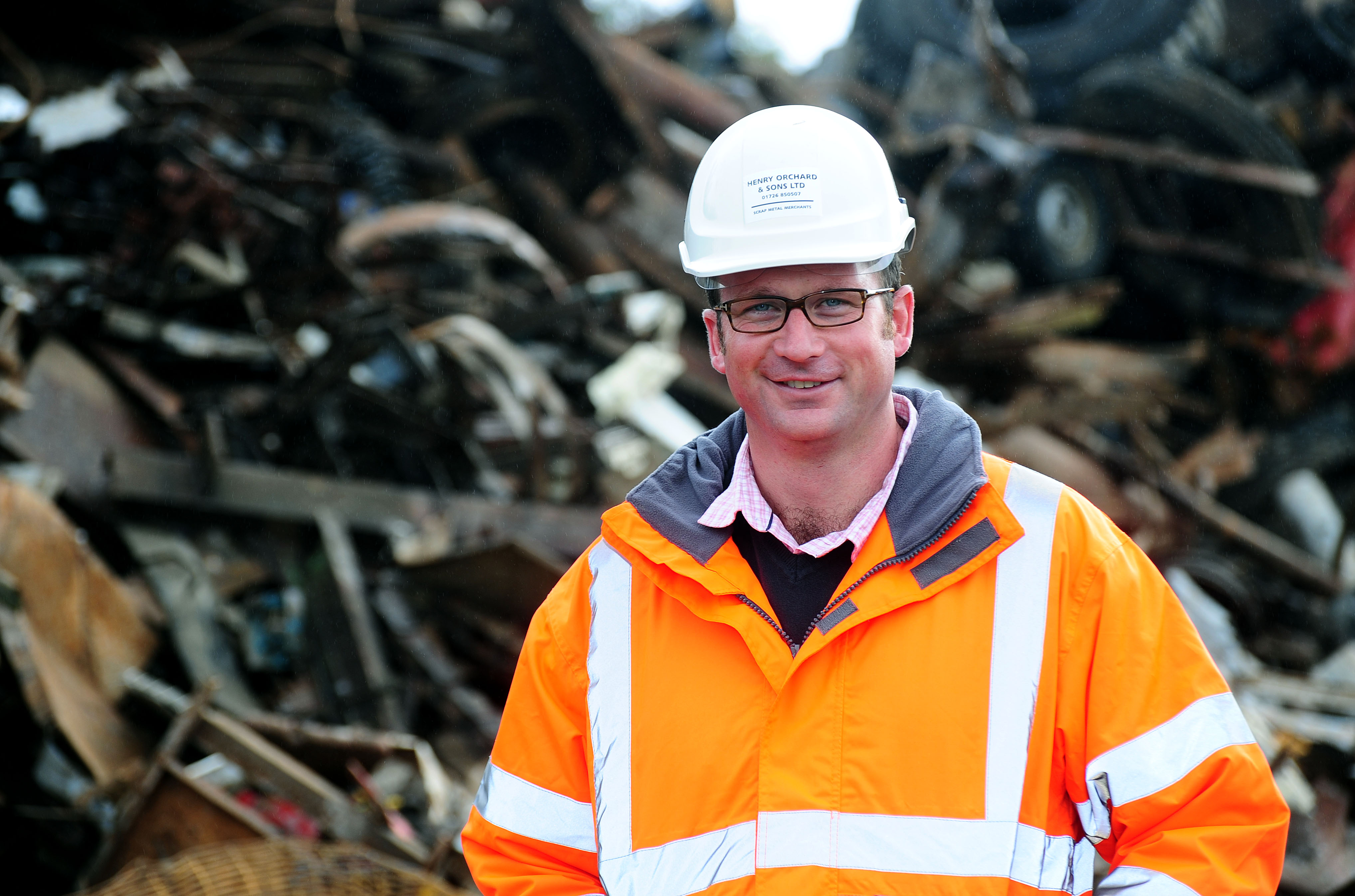 Henry Orchard and Sons' managing director, Henry Orchard. The St Austell-based scrap metal dealer will making cashless payments from Friday, December 7, when new Government legislation comes into place.