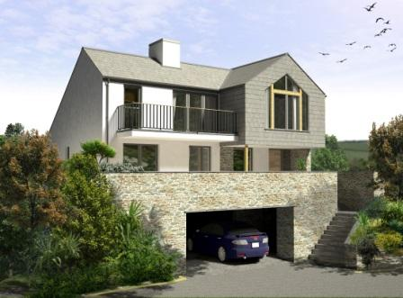 Artist's impression of house design for the project