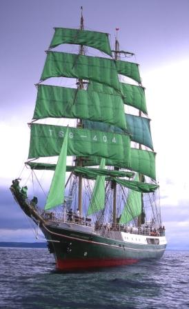 The Alexander Von Humboldt, which took part in the Funchal 500 Tall Ships Regatta in Falmouth in 2008
