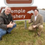 Cllr Mick Martin & Dan Rogerson MP at the A30 at Temple (1)