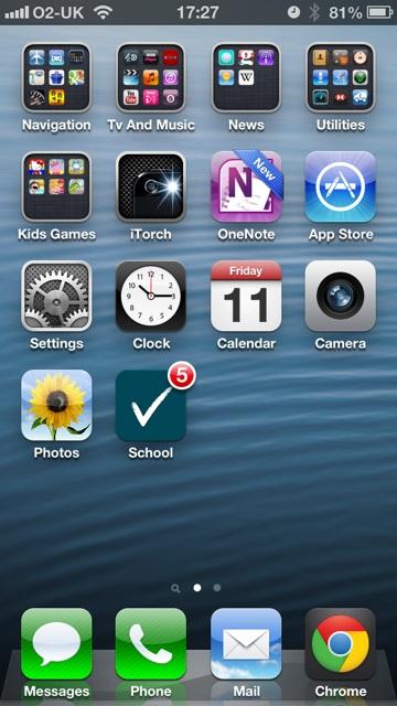 Schoolcomms School Gateway App on iPhone