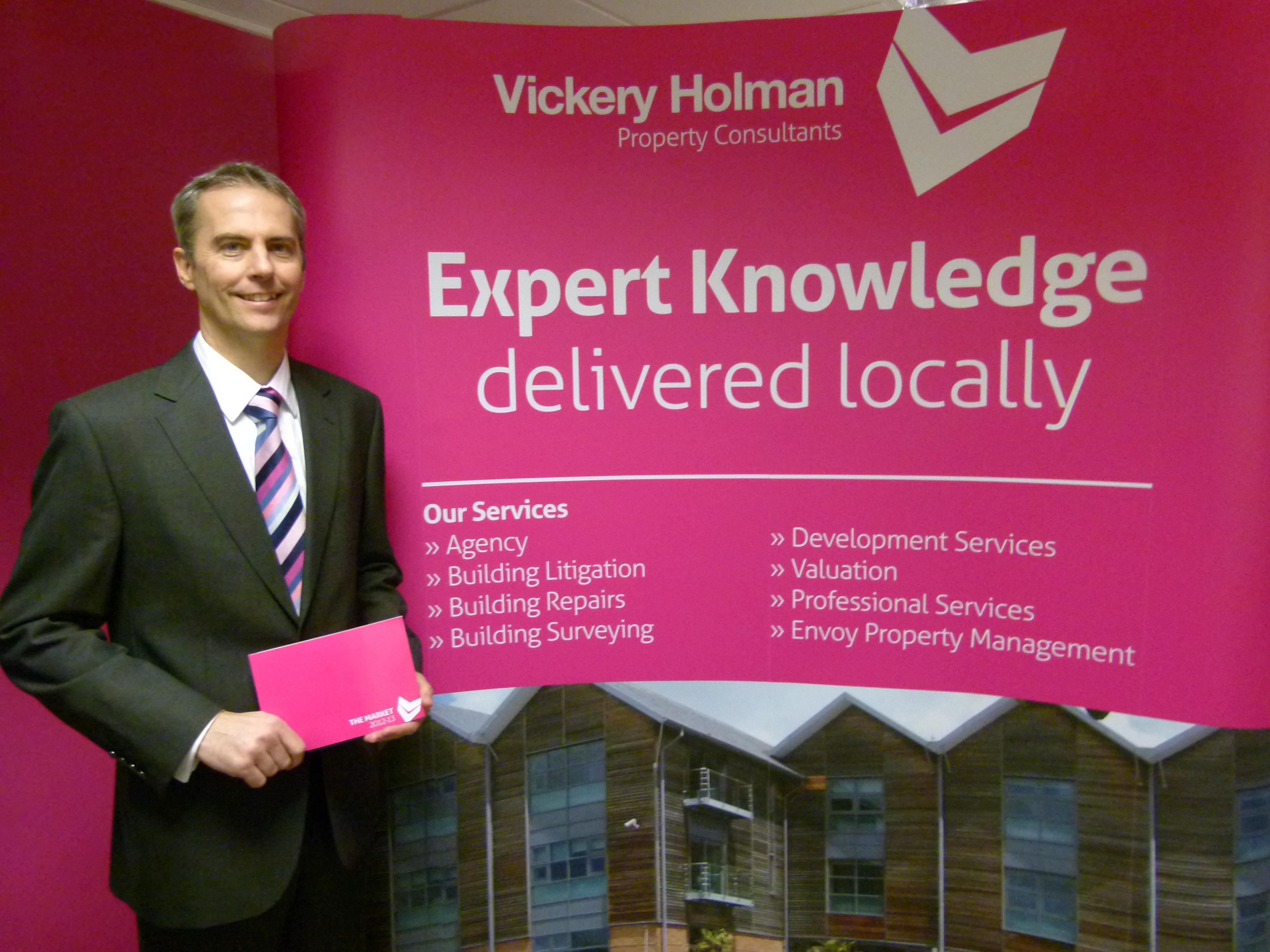 Vickery Holman's managing director, Mark Pellow, with the company's latest Market Review. It will be unveiled at a series of seminars in Truro, Plymouth and Exeter.
