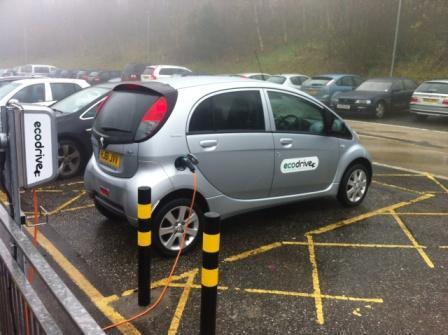 Ecodrive Peugeot on charge