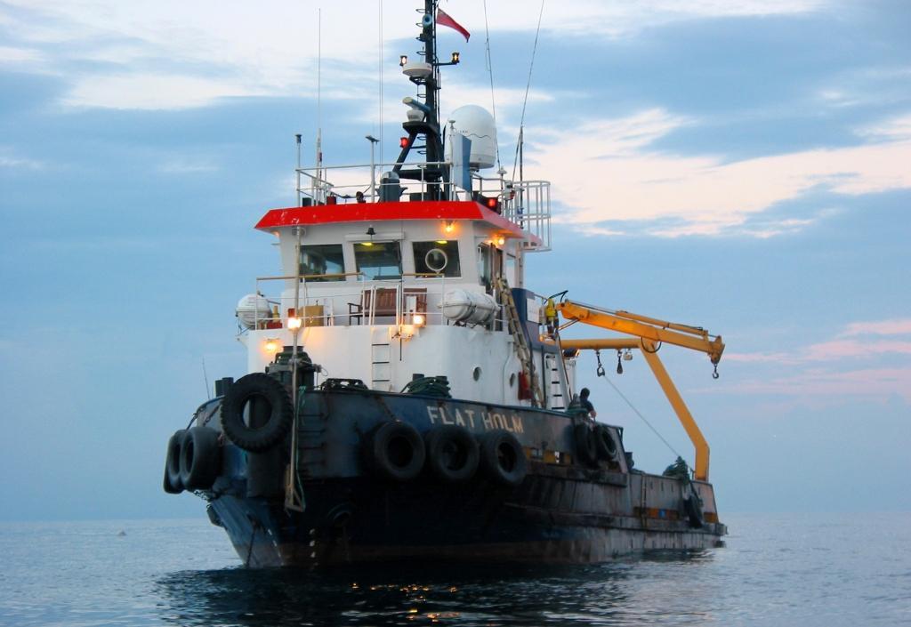 The survey vessel MV Flatholm