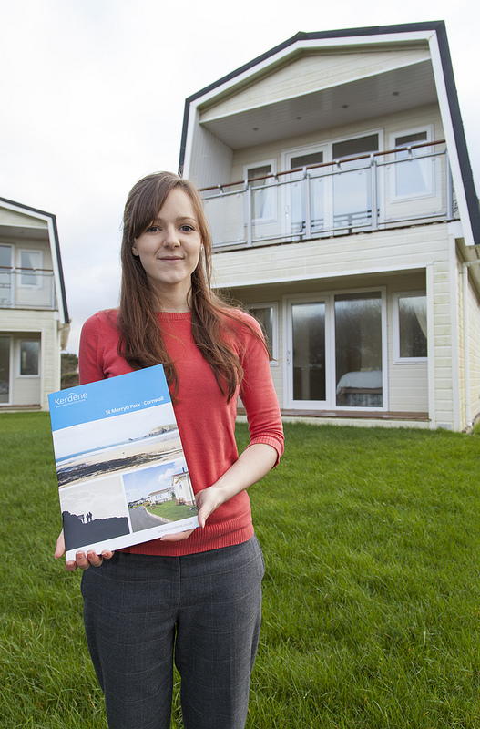 St Merryn Park marketing manager, Nicky Lott, with the new brochure