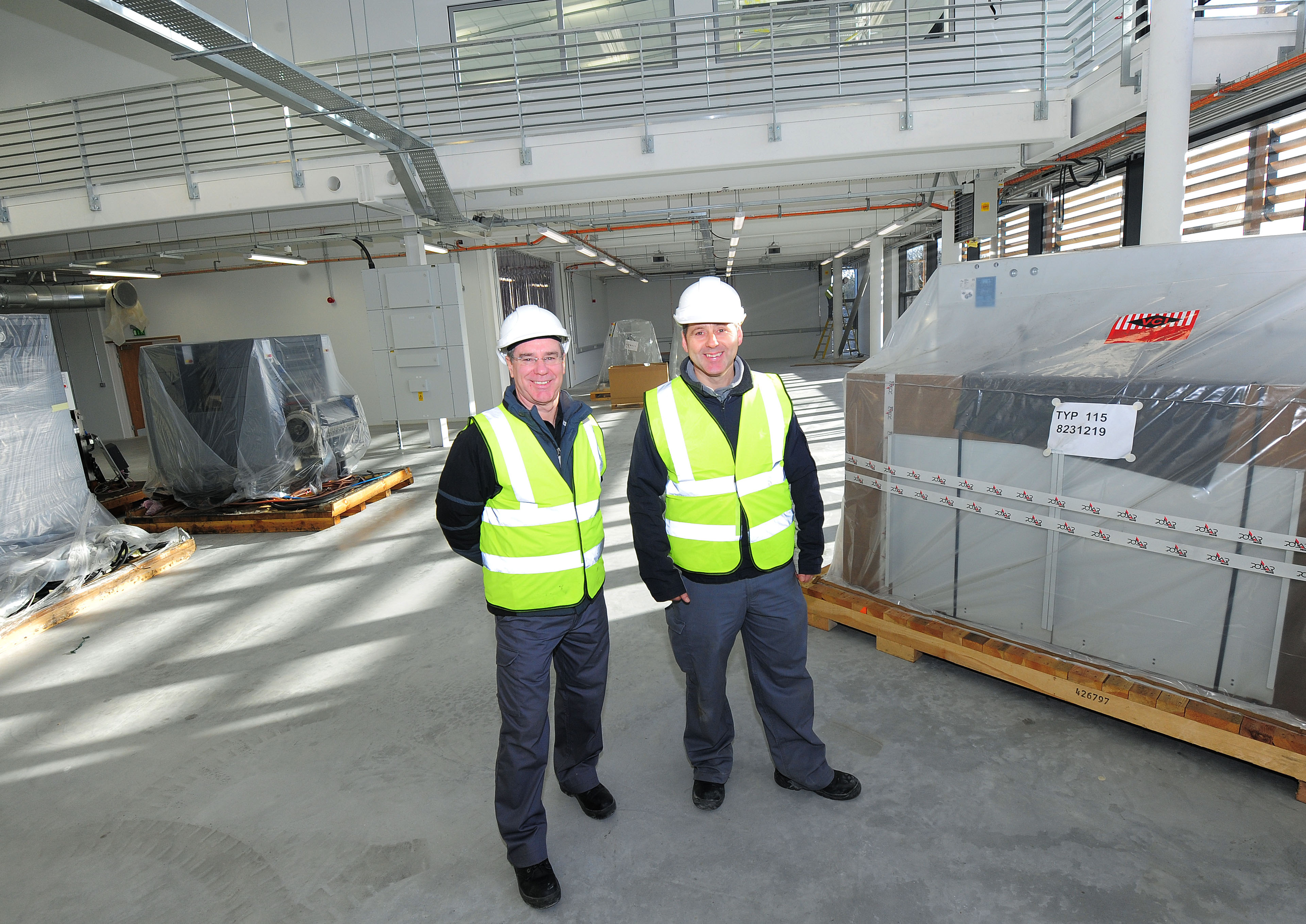 St Austell Printing Company's print manager, Steve Mattey (left) and bindery and dispatch manager, Anthony Tucker, with the new equipment