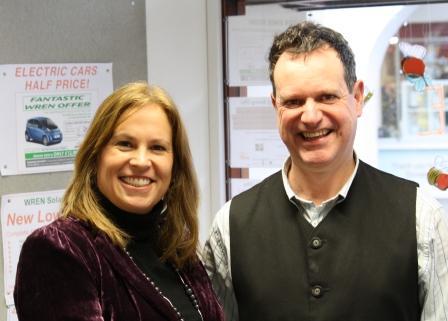 New Wadebridge chamber chair Sarah Prosser with vice chair Adrian Jones