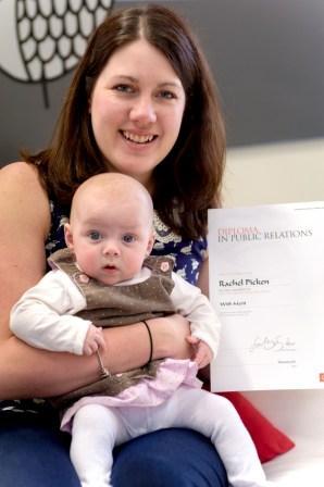 Rachel Picken with baby Bryher