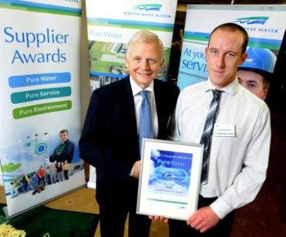 Project manager Michael Delbridge (r) pictured with South West Water chief executive Chris Loughlin