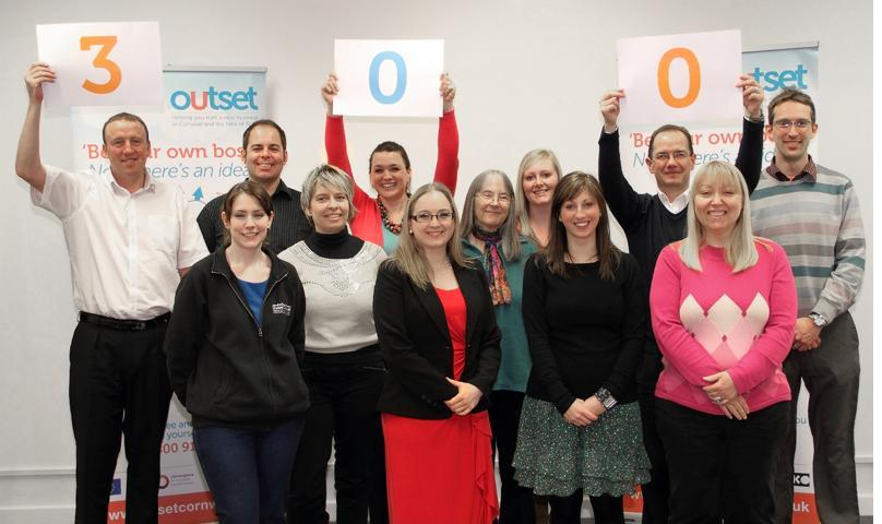 The Outset Cornwall team with Donna Negus (centre)