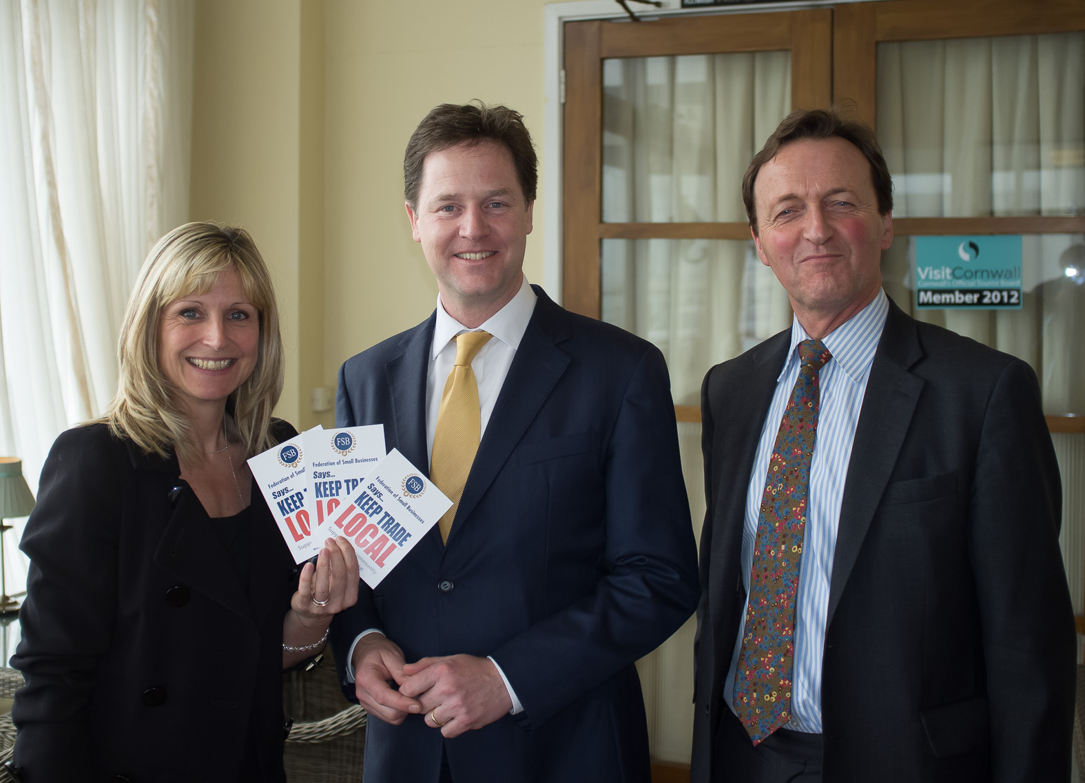 Ann Vandermeulen with Nick Clegg and Andrew George