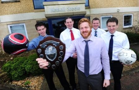 The triumphant Kelsall Steele 5-a-side football team