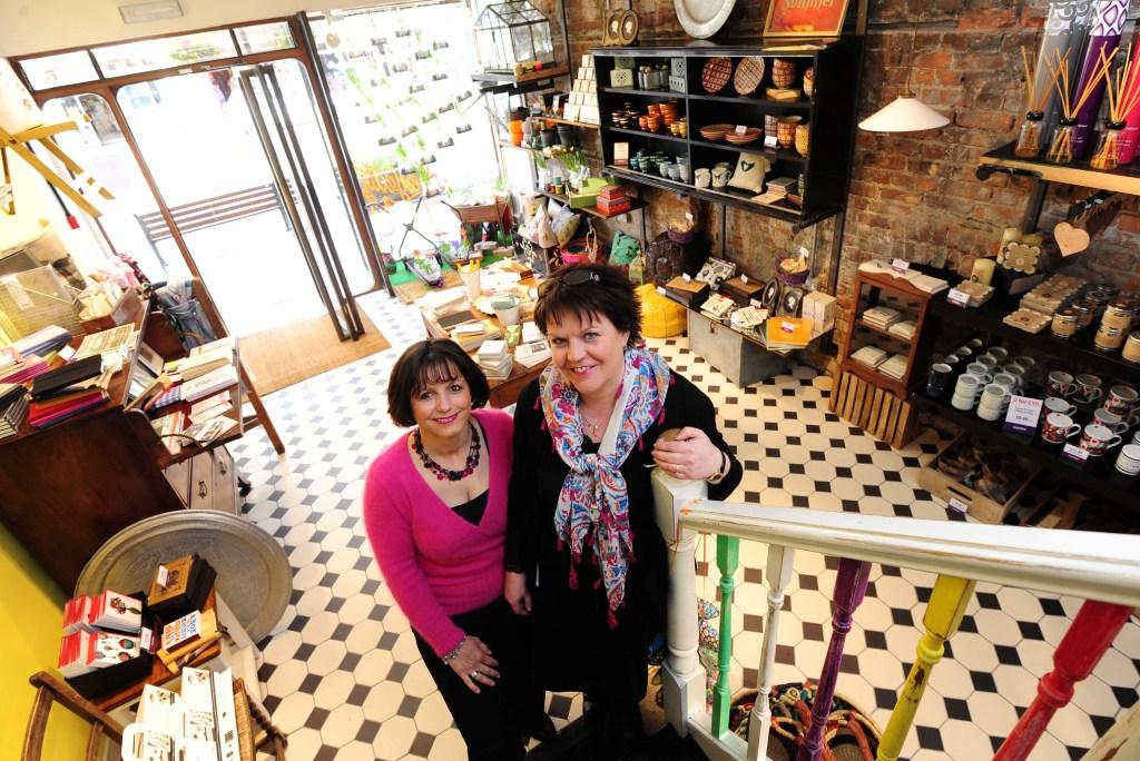 Uneeka.life sales assistant Magalie Garland (left) with manager Jan Baldwin