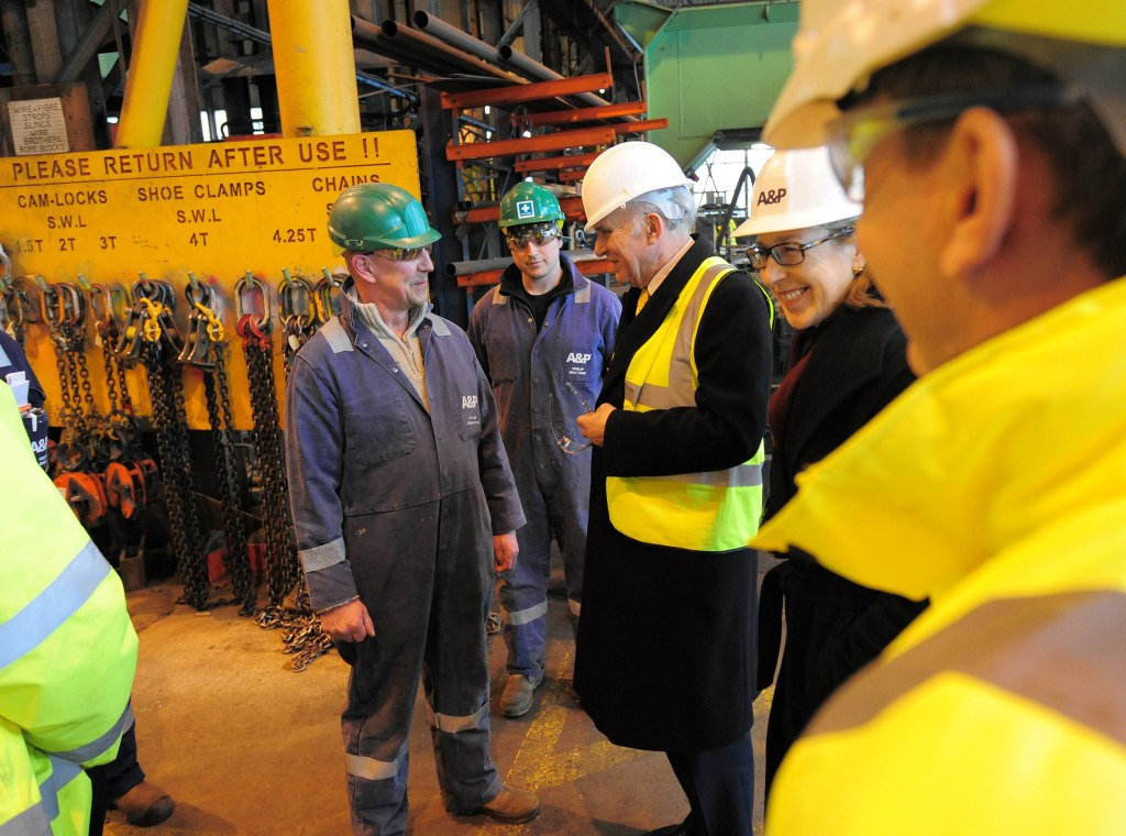 Business secretary Vince Cable during his visit to A&P yesterday