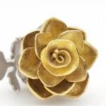 Rose Locket (shown open) Silver, 18ct gold, diamond. Victoria Walker