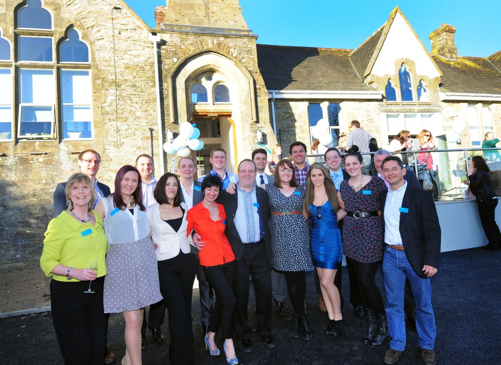 The Reflex Marine team at the opening of their new offices