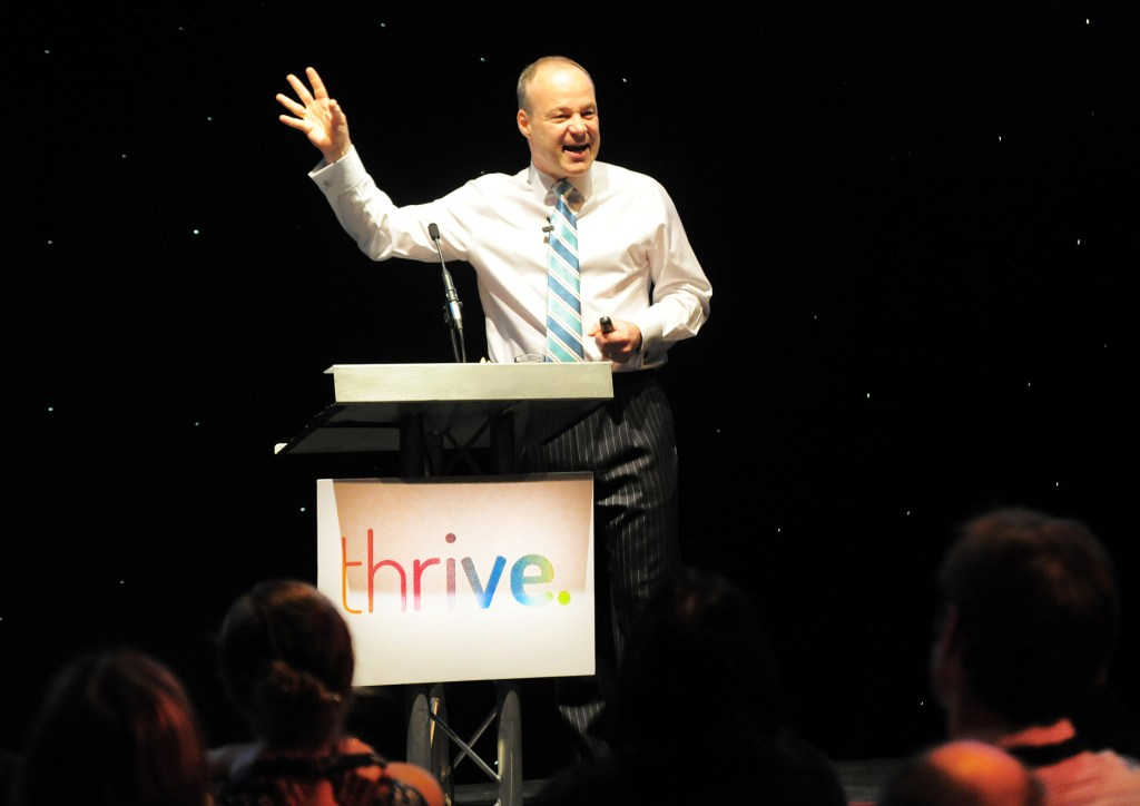 Hamish Taylor at Wednesday's Thrive conference