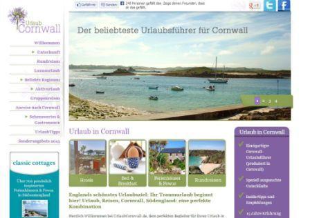 The UrlaubCornwall website