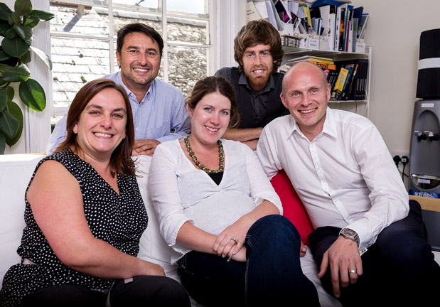 The MPAD team has recorded 26% growth in 2012/13 (l-r) Sammy Mudhar, Nigel Barker, Rachel Picken, Matt Hollands and Mark Picken