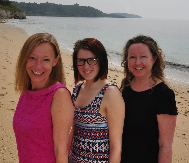 Eventy team (l-r): Lisa Cottrell, Rebecca Waterfield and MD Helen Mulhern