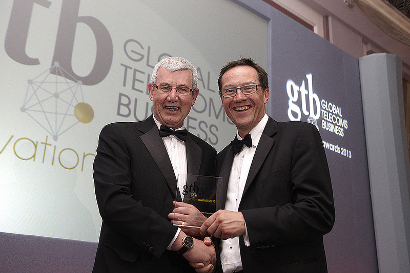 Nigel Ashcroft (left) and Ranulf Scarbrough receive Superfast's latest award